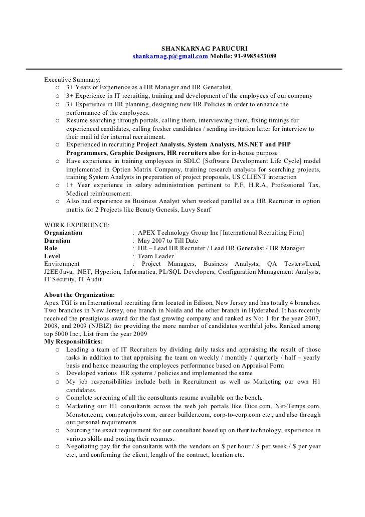 SHANKARNAG PARUCURI                                shankarnag.p@gmail.com Mobile: 91-9985453089Executive Summary:   o 3+ Y...
