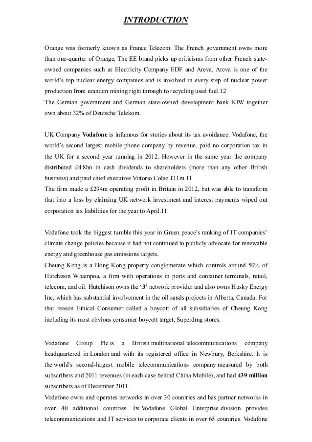vodafone case essay Vodafone case essays: over 180,000 vodafone case essays, vodafone case term papers, vodafone case research paper, book reports 184 990 essays, term and research papers available for unlimited access.