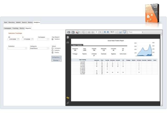 Star!  Dnrectory Submit Search History Analytics  Campagne Tracking Stanco Reporls  Selezione Tracklngs      DA A Campagna...