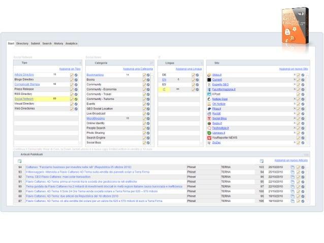 Start Directory Sulimit Searcli llistory Aiiiimics        Tipo categoria Lingua sua  Aggiungi un Tipo         1° g o   14 ...
