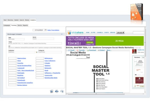Start Directory Submit Searcli History Analytics  Campagne Tracking Storico Reoorts  17/ 1 1/20 10 El Data Tracciatura  sfi...