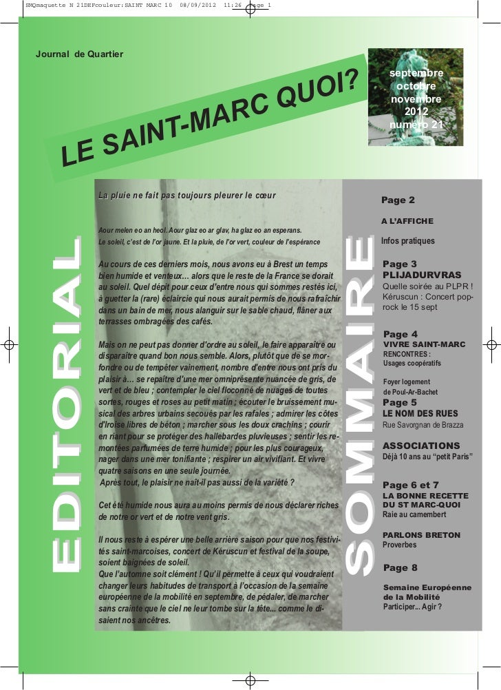 SMQmaquette N 21DEFcouleur:SAINT MARC 10        08/09/2012      11:26     Page 1                                          ...
