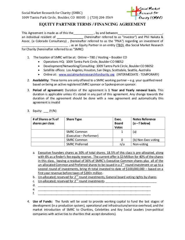 Shared Equity Financing Agreement Sample Form Timiznceptzmusic