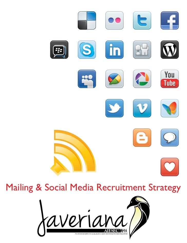 Mailing & Social Media Recruitment Strategy                 The international platform for young people to explore and dev...