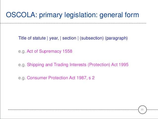 Oscola bibliography order