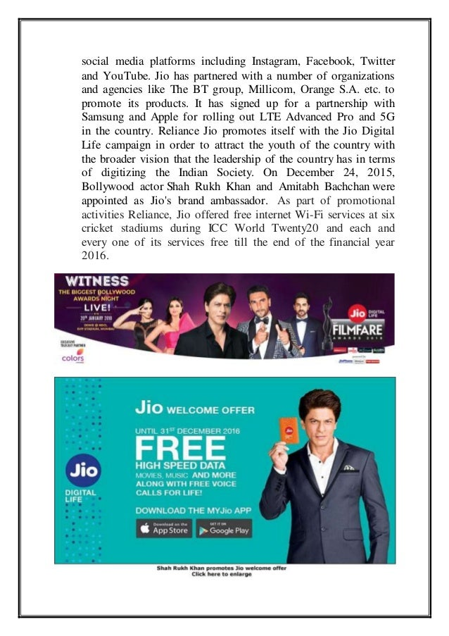 Study on 7Ps of Reliance Jio in Bhubaneswar