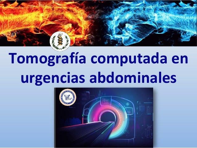 Exampletext Tomografíacomputadaen urgenciasabdominales