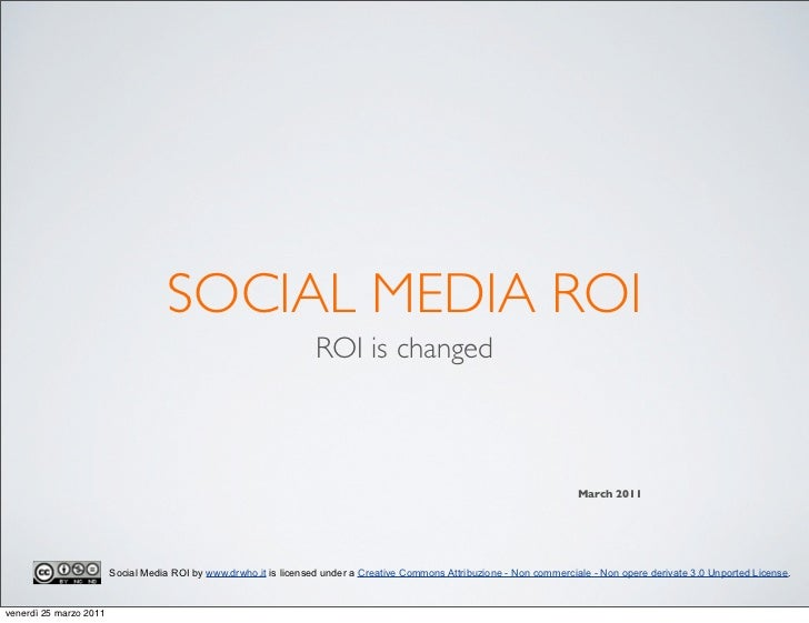 SOCIAL MEDIA ROI                                                                   ROI is changed                         ...
