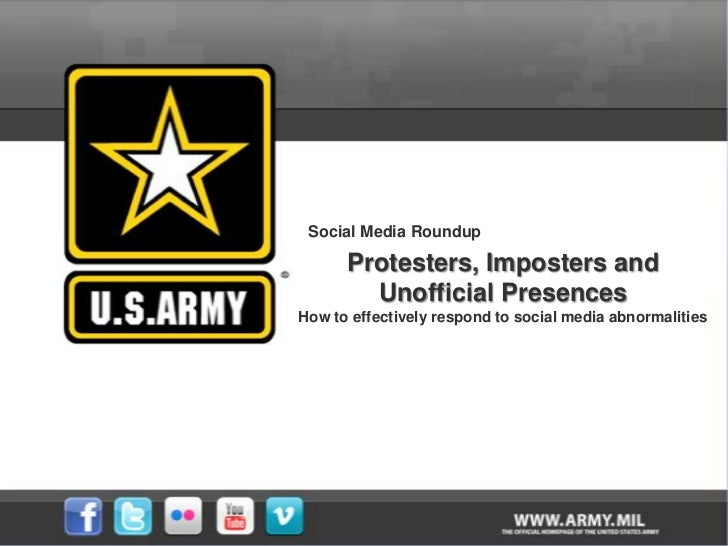 Social Media Roundup<br />Protesters, Imposters and <br />Unofficial Presences<br />How to effectively respond to social m...