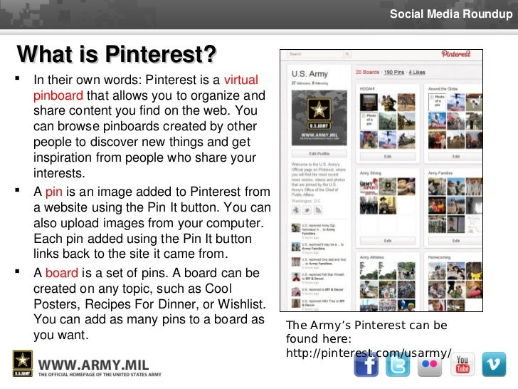 Social Media Roundupwhat Is Pinterest In Their Own Words Pinterest