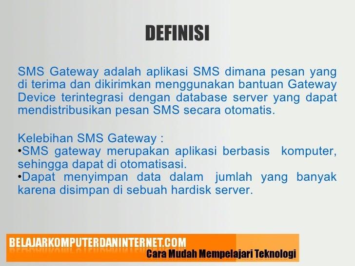 SMS GATEWAY ADALAH PDF DOWNLOAD
