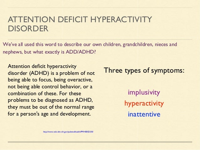 Attention Deficit Disorder Essays (Examples)