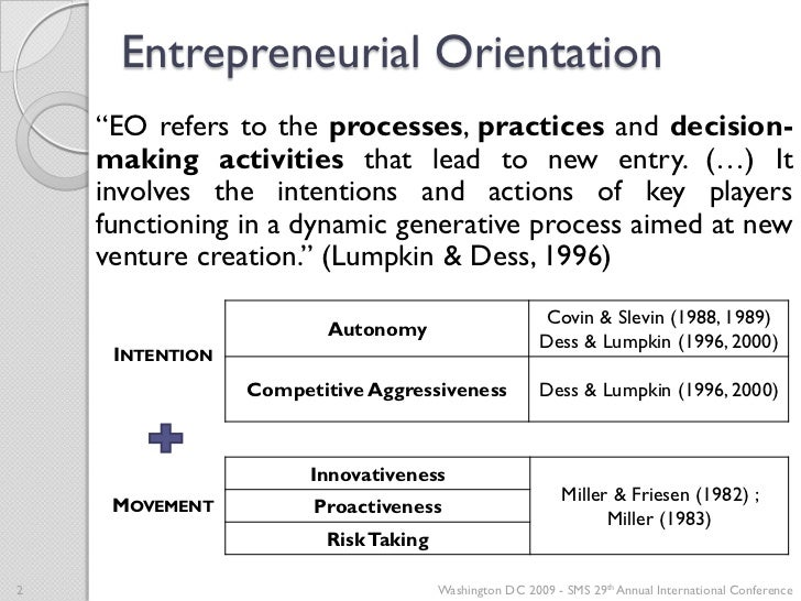 the entrepreneurial orientation of l'oreal Entrepreneurial orientation (eo) has received substantial conceptual and empirical attention, representing one of the few areas in entrepreneurship research where a .
