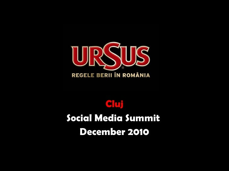 Cluj Social Media Summit  December 2010