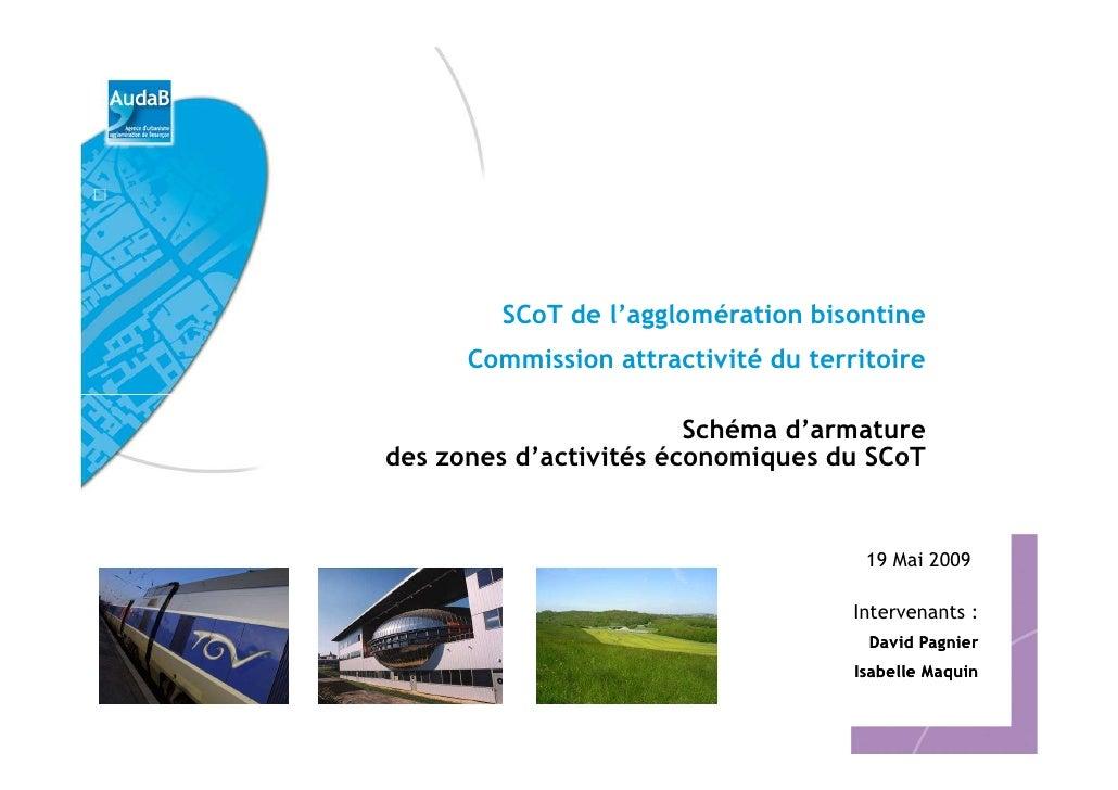 SCoT de l'agglomération bisontine       Commission attractivité du territoire                          Schéma d'armature d...