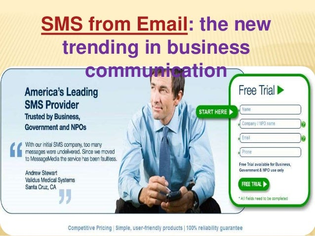 SMS from Email: the new trending in business communication