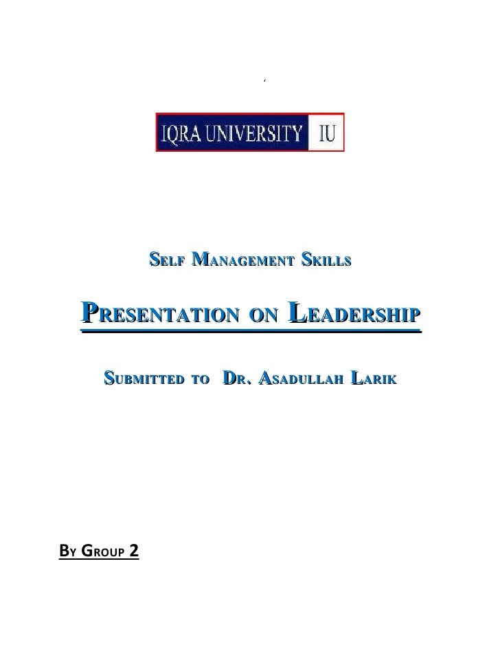 Leadership by Iqbal