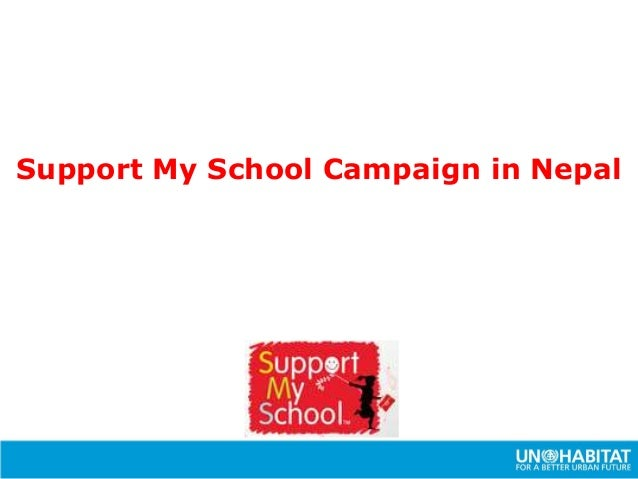 Support My School Campaign in Nepal