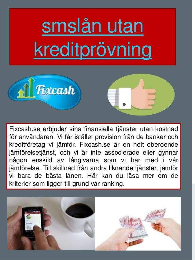 sms lån utan kreditprövning