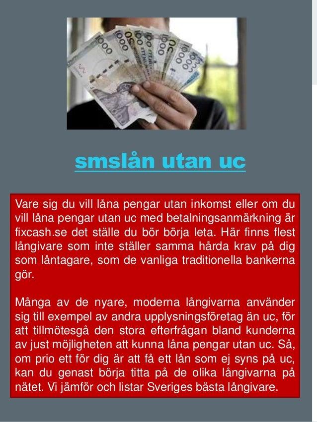 SMS-lån utan UC