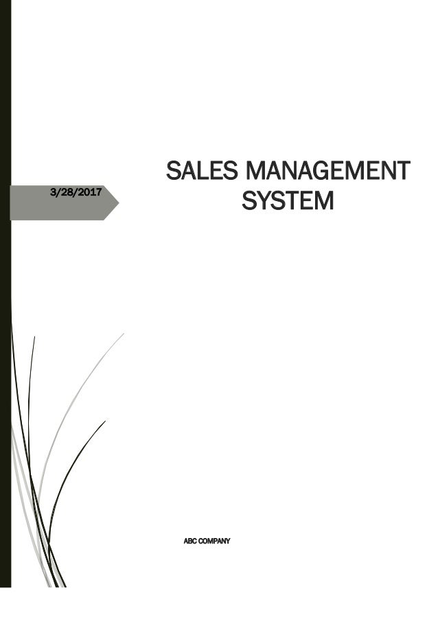 3/28/2017 SALES MANAGEMENT SYSTEM ABC COMPANY
