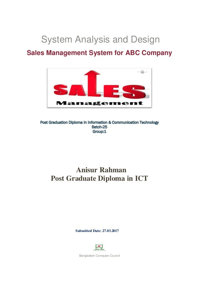 Sales Management System for ABC Company  Slide 2