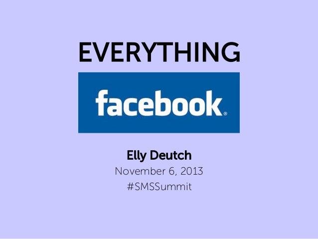 EVERYTHING  Elly Deutch November 6, 2013 #SMSSummit