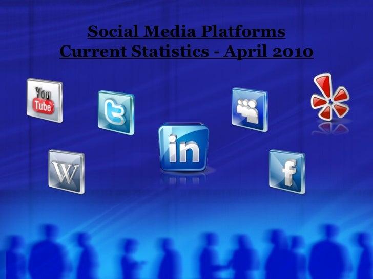 Social Media Platforms Current Statistics - April 2010