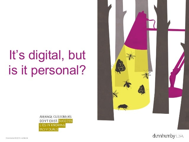 It's digital, but   is it personal?© dunnhumbyUSA 2013 | confidential