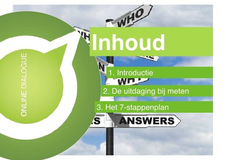 Inhoud!   1. Introductie! 2. De uitdaging bij meten!3. Het 7-stappenplan!
