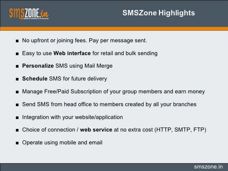 SMSZone-Worldwide Bulk/Tollfree SMS Gateway Providers