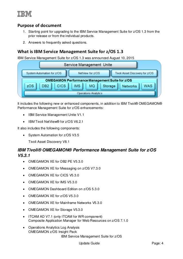 IBM Service Management Suite V1.3.0 Update Guide