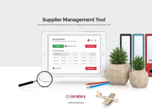 Supplier Management Tool  Automate the RFO sending process to your approved vendors and keep track of it  /  A  Generale R...