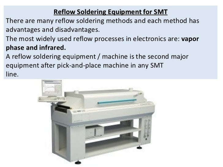 Reflow Soldering Equipment for SMT There are many reflow soldering methods and each method has advantages and disadvantage...