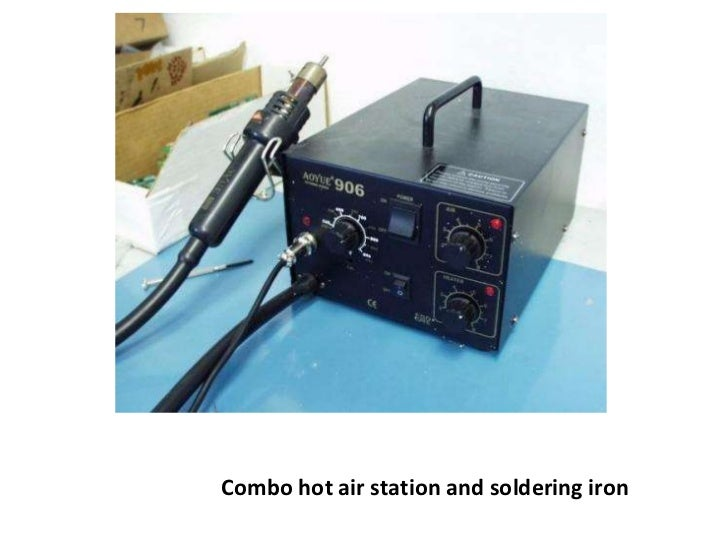 Combo hot air station and soldering iron