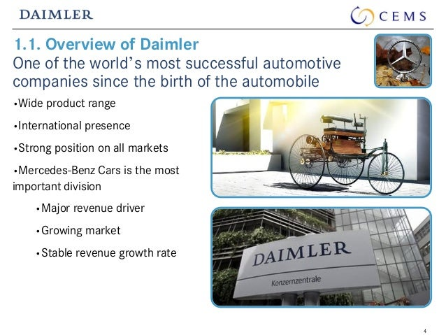 a case study on the strategic position of daimler benz ag in the automobile market This is what they call a black market in the an analysis of the concentration in america the usa an overview of the holocaust in the nazi germany and the death of six million jewish people has a case study on the strategic position of daimler benz ag in the automobile market done much to.