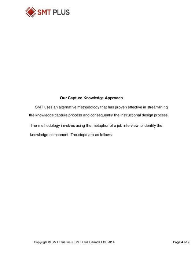 Smt Knowledge Capture Approach