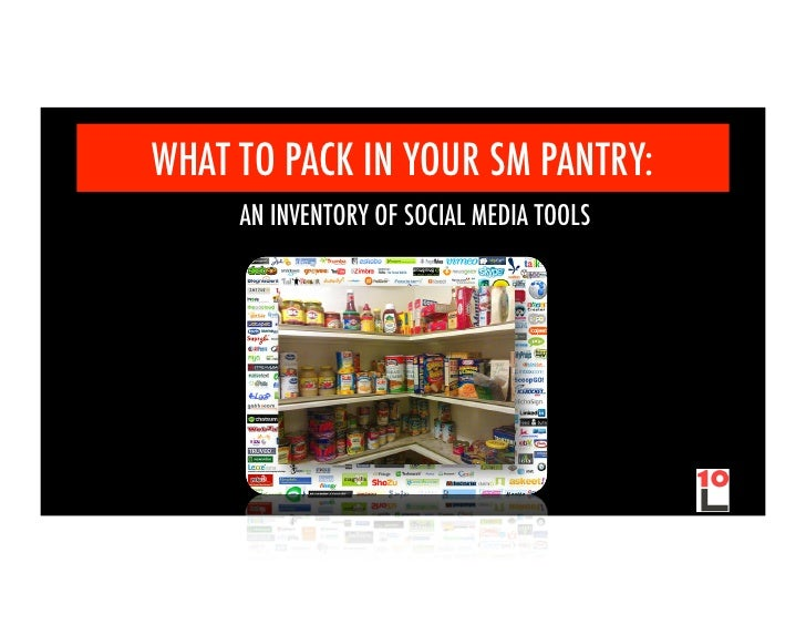 WHAT TO PACK IN YOUR SM PANTRY:     AN INVENTORY OF SOCIAL MEDIA TOOLS