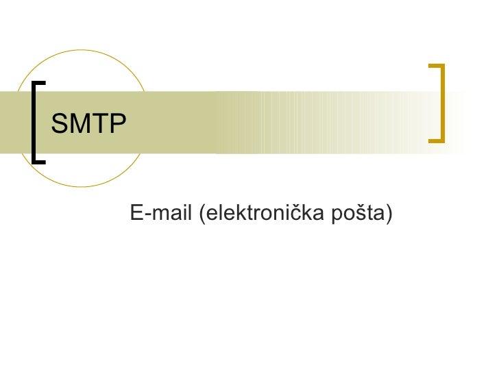 SMTP E-mail (elektronička pošta)