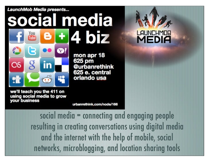 social media = connecting and engaging peopleresulting in creating conversations using digital media    and the internet w...