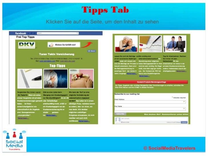 Tipps TabKlicken Sie auf die Seite, um den Inhalt zu sehen