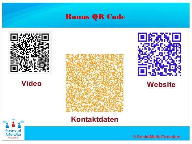 Bonus QR CodeVideo                   Website         Kontaktdaten
