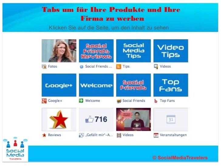 Tabs um für Ihre Produkte und Ihre         Firma zu werben Klicken Sie auf die Seite, um den Inhalt zu sehen