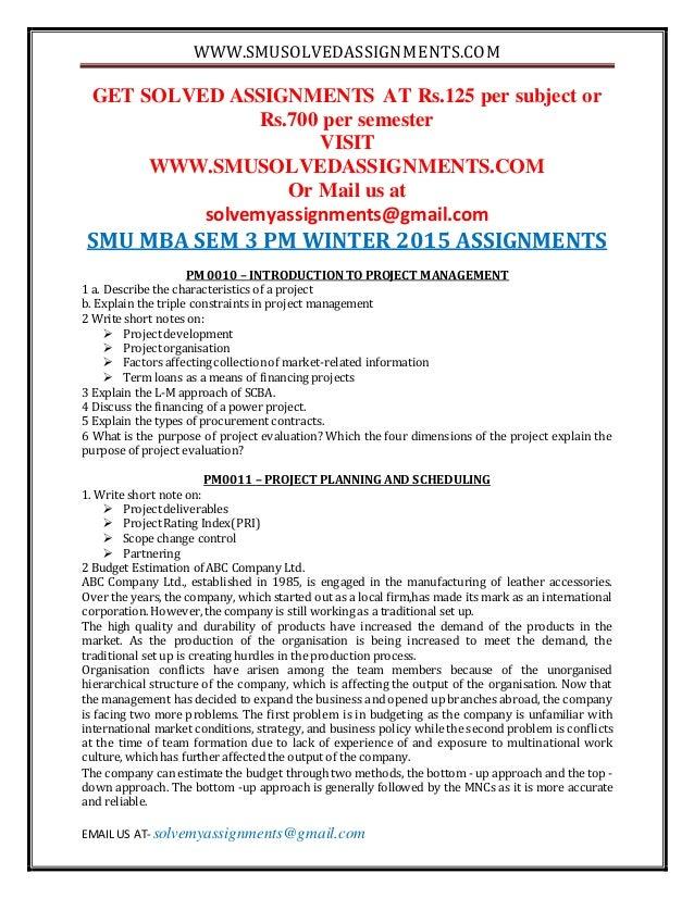 SMU Assignments
