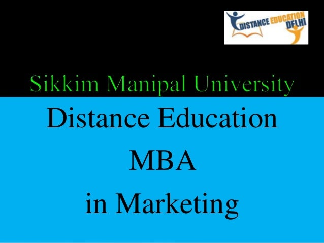Distance Education MBA in Marketing