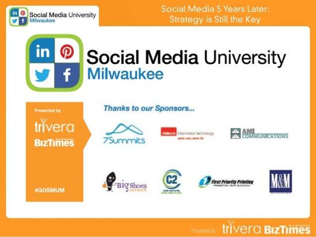 Social Media 5 Years Later: Strategy is Still the Key Tom Snyder President/Founder Trivera Social Media University - Milwa...