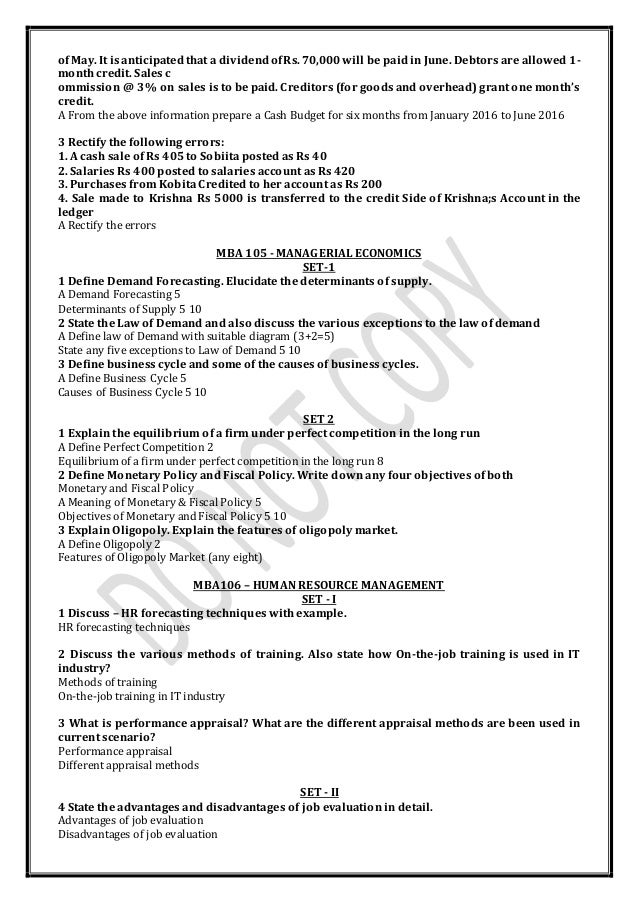 mba sem 1 Saurashtra university, rajkot mba semester - i semester – i compulsory courses 4101 to 4108 4101: principles of management objectives: the objectives of this paper are to familiarize the student with basic management concepts and processes in the organization.