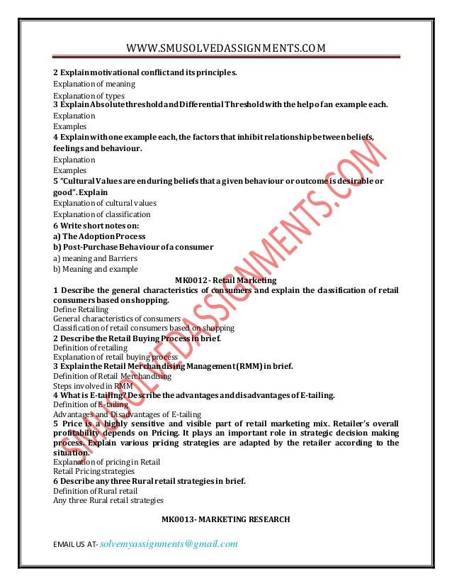 MB0046 –Marketing Management