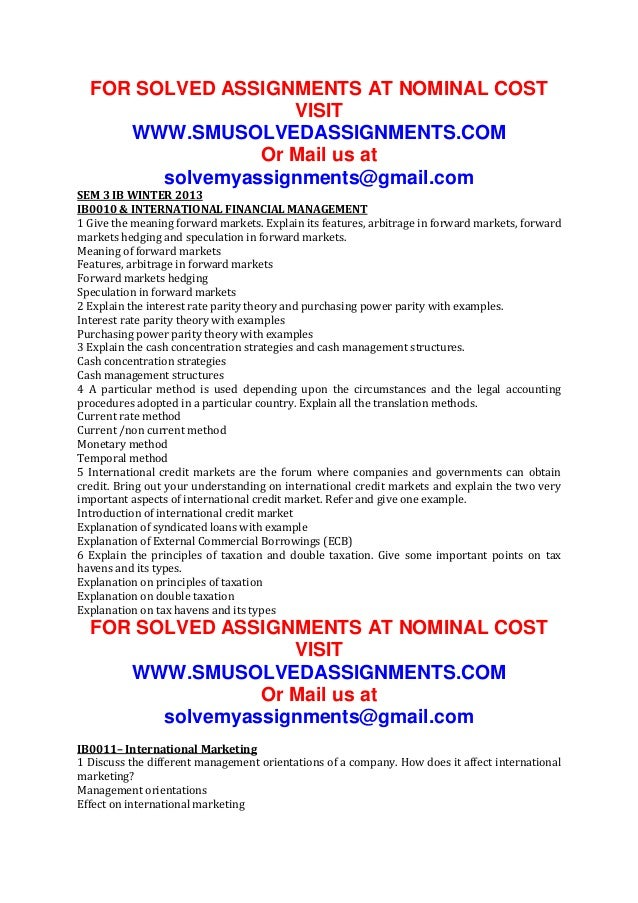FOR SOLVED ASSIGNMENTS AT NOMINAL COST VISIT WWW.SMUSOLVEDASSIGNMENTS.COM Or Mail us at solvemyassignments@gmail.com SEM 3...