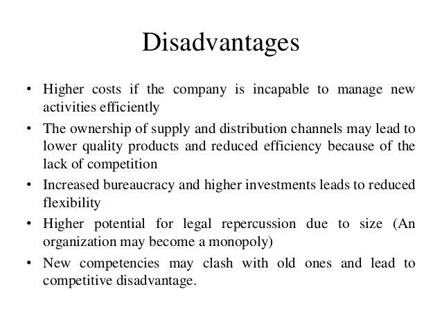 advantages and disadvantages of horizontal integration